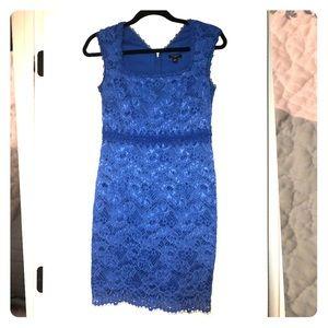 Ann Taylor royal blue lace dress size 0 petite
